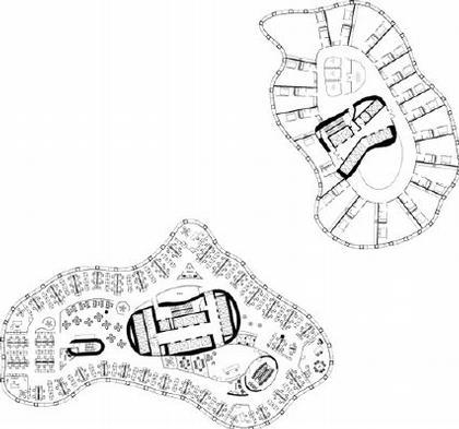 E+E Architecture and Urban Design. Планы этажей здания «Конверс-Банка»