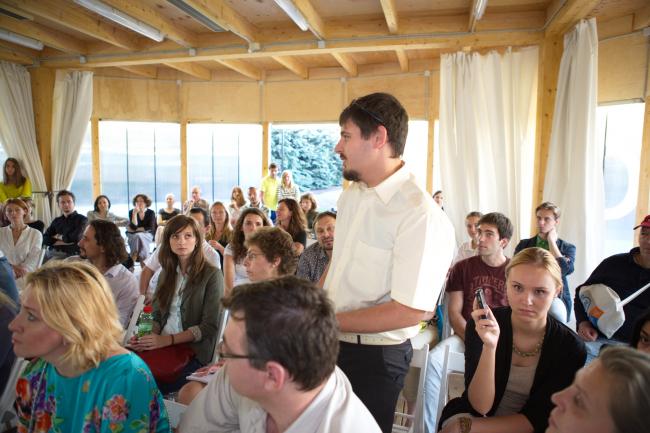Общественное обсуждение конкурсных проектов парка «Динамо». Фотография Александра Остроухова