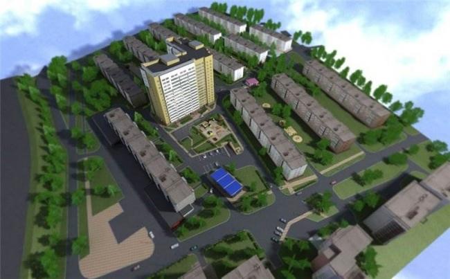 Рис. 3. Проект многоэтажного жилого дома (с сайта застройщика). Иллюстрация предоставлена Александром Ложкиным