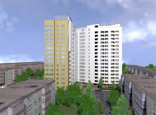 Рис. 4. Проект многоэтажного жилого дома (с сайта застройщика). Иллюстрация предоставлена Александром Ложкиным