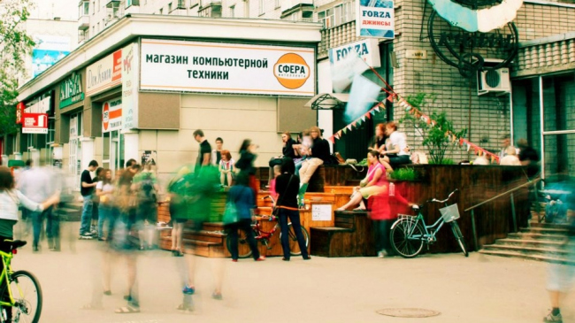 Объект «Новый пейджер», построенный в рамках проекта «Активация» в 2012 году. Авторы: Михаил Приёмышев + студенты. Фото: www.facebook.com/pages/AVO-group/