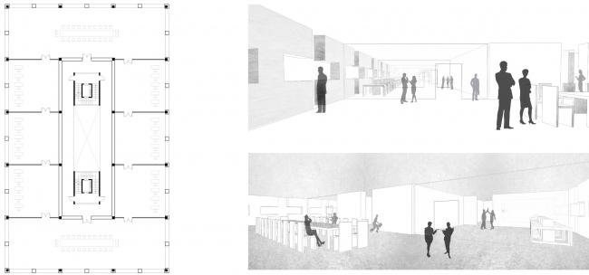 Офис. Вечный жилой дом. Проект Евгении Бакеевой