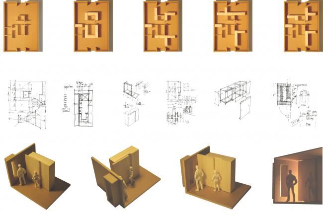 Шкафы-перегородки. Трансформируемое жилье. Проект Михаила Сергеева