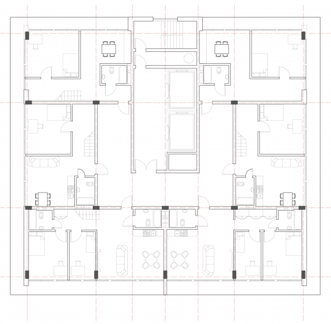 План. Вертикальные квартиры. Автор: Дмитрий Столбовой