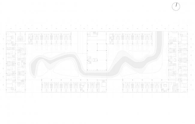 План 2-го этажа. Кварталы арендного жилья. Проект Егора Королева