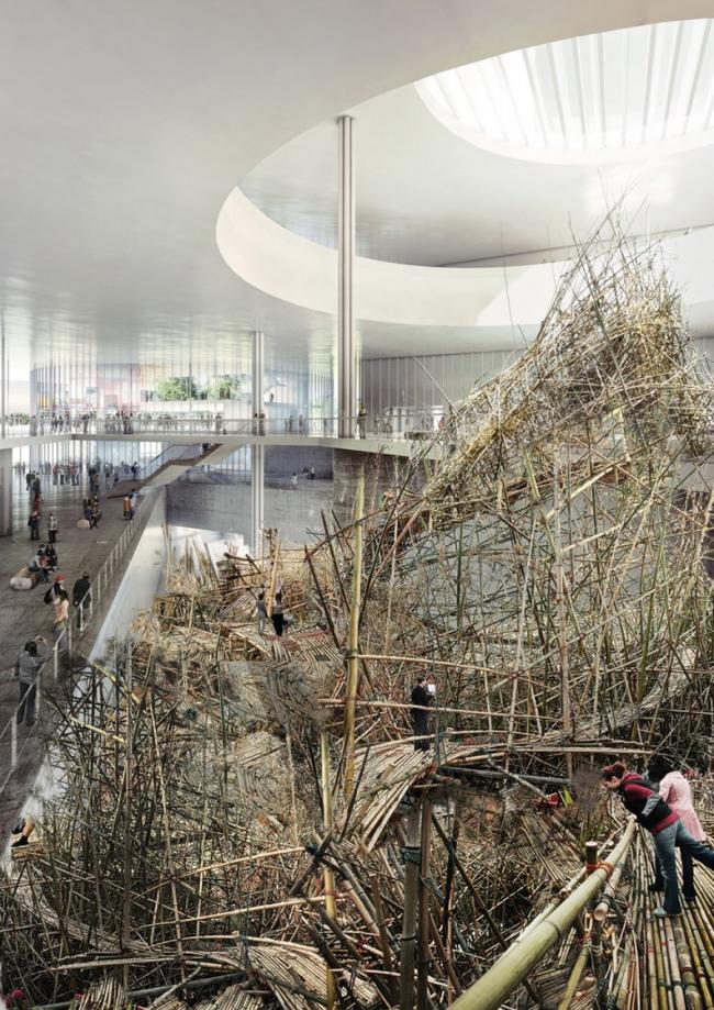 Музей визуальной культуры М+ © Herzog & de Meuron, Courtesy of Herzog & de Meuron and WKCDA