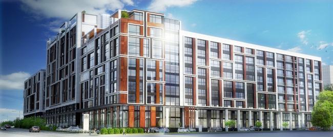 Комплекс апартаментов «TriBeCa». Общий вид © Homeland Group