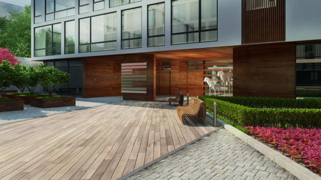 Комплекс апартаментов «TriBeCa». Варианты мощения © Homeland Group
