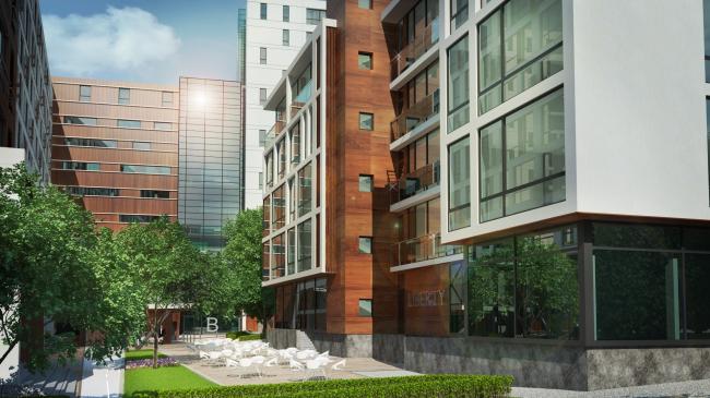 Комплекс апартаментов «TriBeCa». Дворовые фасады © Homeland Group