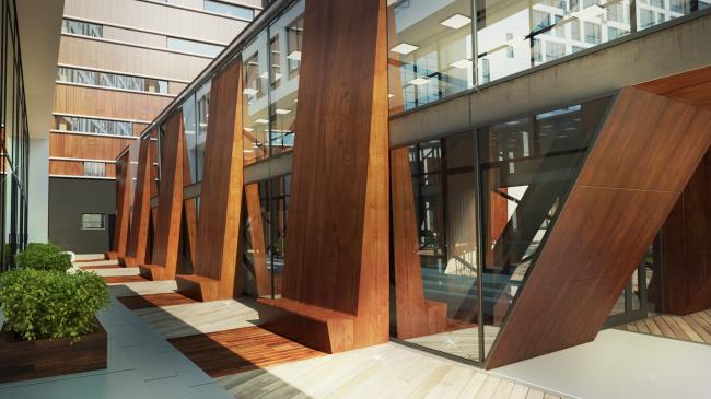 Комплекс апартаментов «TriBeCa». Отделка по красное дерево © Homeland Group