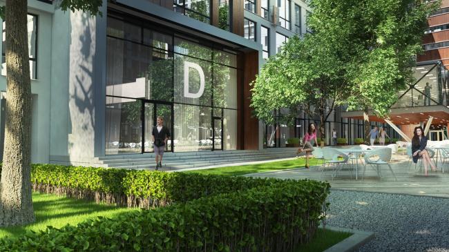 Комплекс апартаментов «TriBeCa». Благоустройство двора © Homeland Group