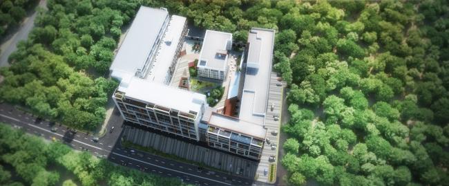 Комплекс апартаментов «TriBeCa». Вид сверху © Homeland Group