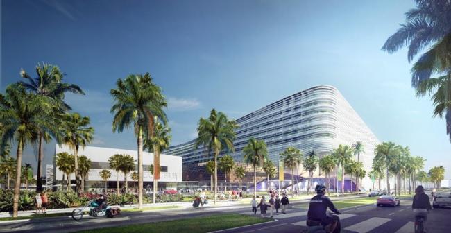 Конгресс-центр Майами-Бич. Конкурсный проект © BIG