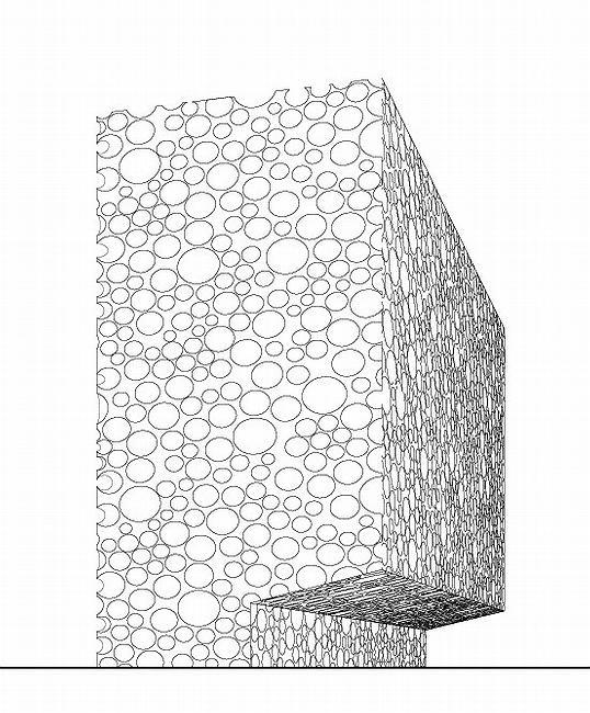 Концепция единицы квартальной застройки - светлый (каменный) дом