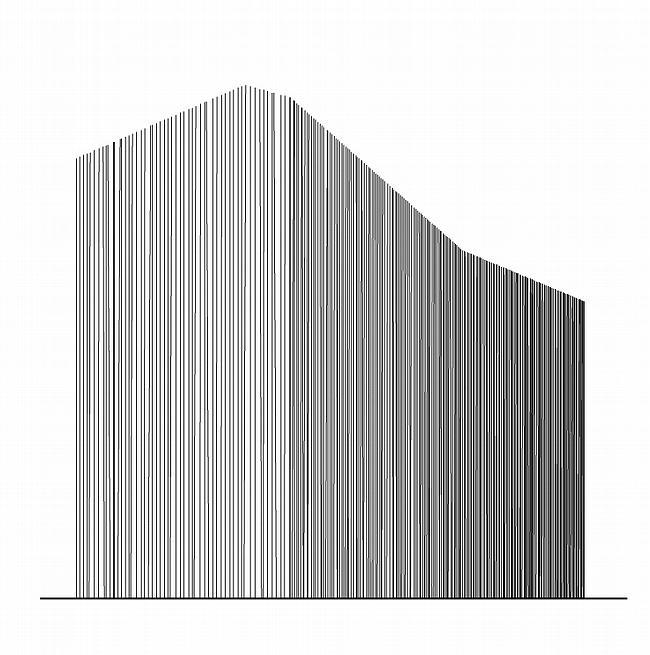Концепция единицы квартальной застройки - красный (кирпичный) дом