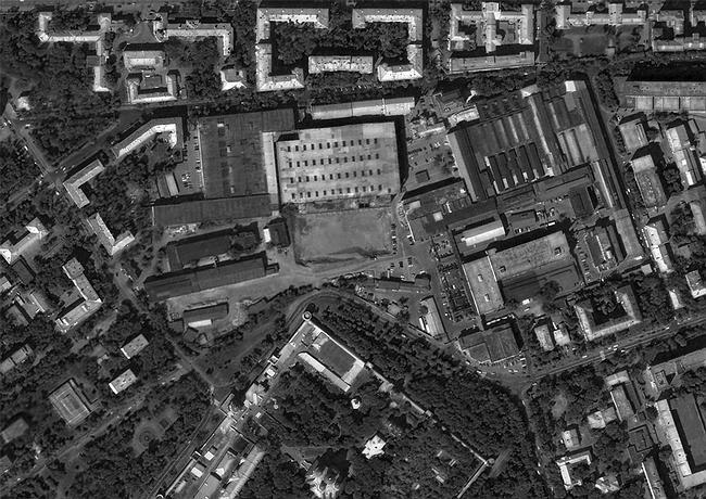 Территория завода «Красный пролетарий» и окружающие кварталы