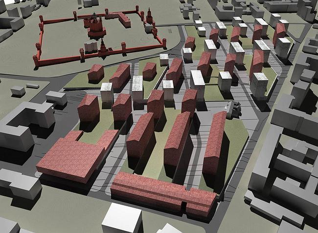 Конкурсный проект квартала рядом с Донским монастырем