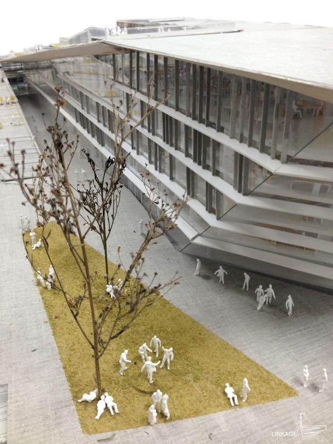 Корпус института SUPSI . © Kengo Kuma & Associates