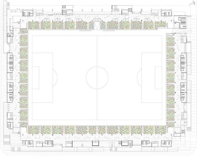 Футбольный стадион Pasarón © ACXT Arquitectos