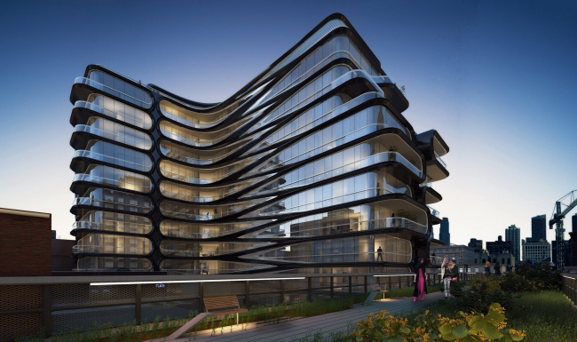 Жилой комплекс 520 West 28th Street © Zaha Hadid Architects