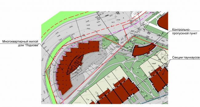 Жилой дом №27 в поселке «Олимпийская деревня Новогорск». Генеральный план © Архитектуриум