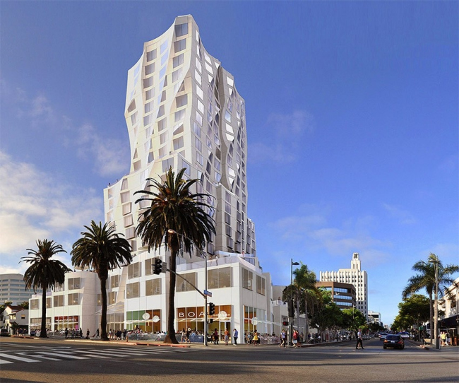 Башня Ocean Avenue Project © Gehry Partners
