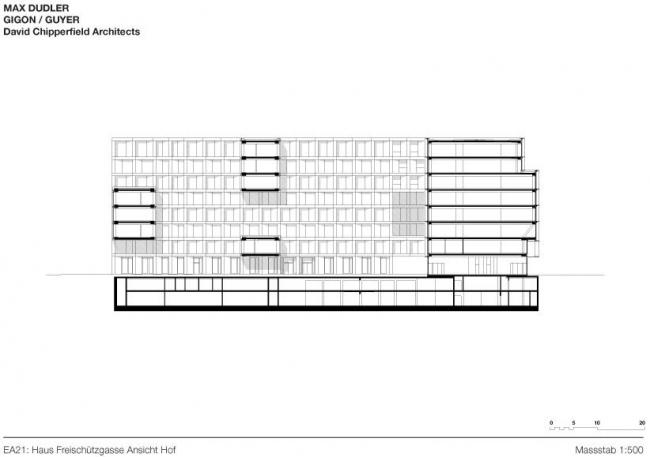 Europaallee 21 - корпус Freischützgasse House © Max Dudler, Gigon/Guyer, David Chipperfield Architects