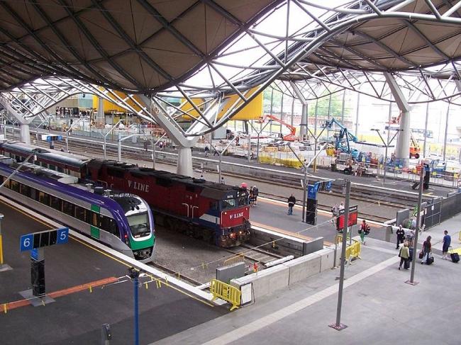 Вокзал Саузерн Кросс в Мельбурне. Фото: Hourann Bosci via Wikimedia Commons. Лицензия CC-BY-SA-2.0