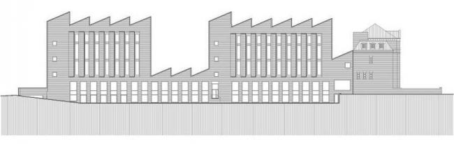 Здание реставрационных мастерских Рейксмузеума. План крыши. © Cruz y Ortiz Arquitectos