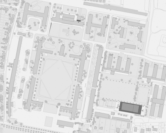 Спортивный и конференц-центр Университета Якобса в Бремене.© Max Dudler Architekt
