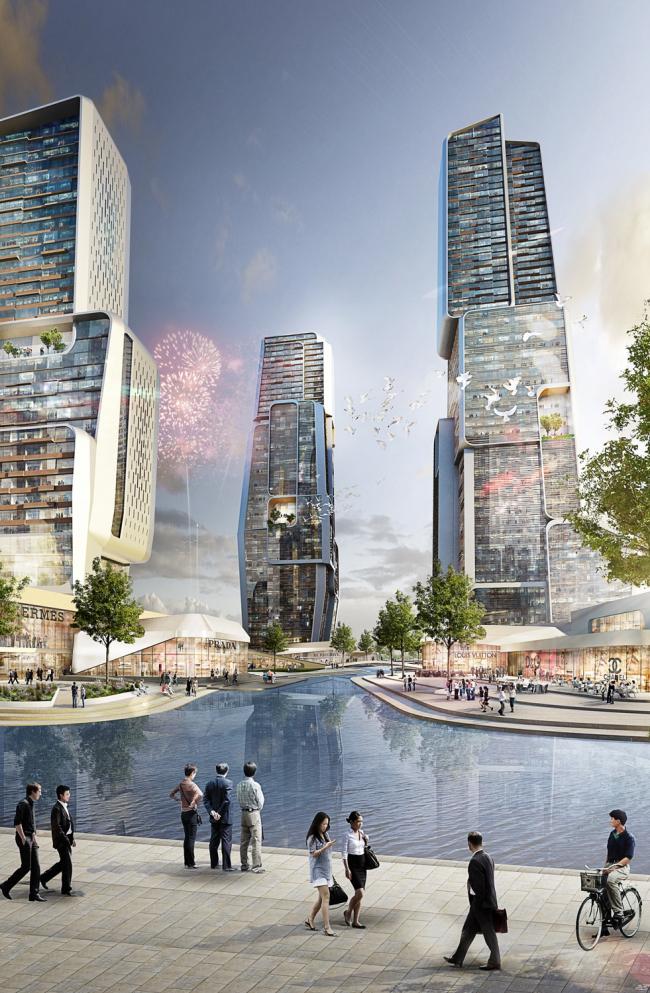 Всемирный Торговый Центр «Юнцзя» © UNStudio