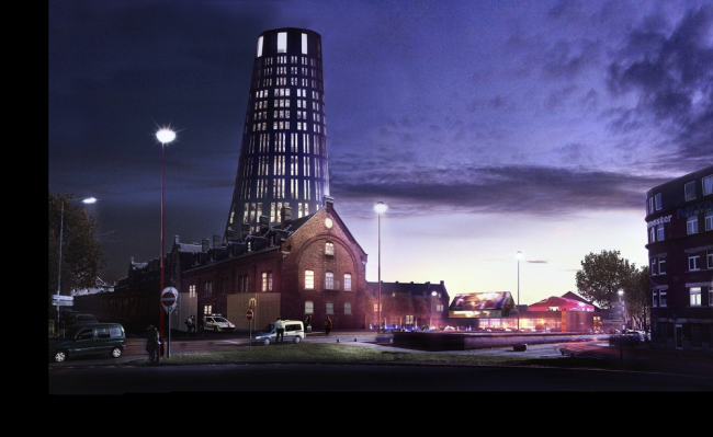 Центр танца Charleroi Danses и отделение полиции © Ateliers Jean Nouvel + MDW Architecture