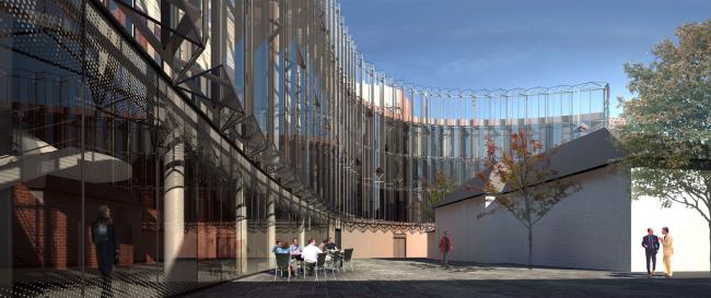 Проект фасадов Третьяковской галереи. Архитектурное бюро «Тотемент/Пейпер». Дворовый фасад