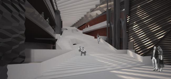 Проект фасадов Третьяковской галереи. Архитектурное бюро «Тотемент/Пейпер». Второй вариант