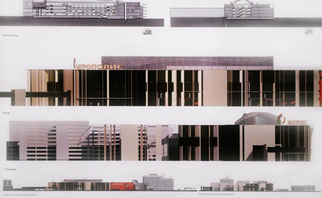 Многофункциональный торговый комплекс «Метрополис», вторая очередь. Фасады. Проект, 2013 © UNK project