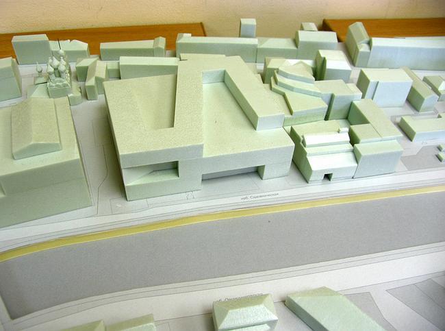 Макет предпроекта жилого дома на Садовнической набережной Сергея Киселева