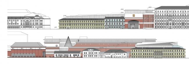 Вариант с воссозданием исторической застройки Кадашевской набережной