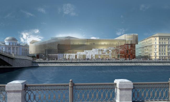 Новый корпус Третьяковской галереи. Вариант 2