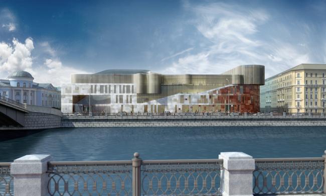 Новый корпус Третьяковской галереи. Вариант 3