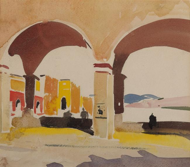 Луис Кан. Понте Веккио во Флоренции. Ок. 1930 © Private Collection, Foto: Paul Takeuchi 2012