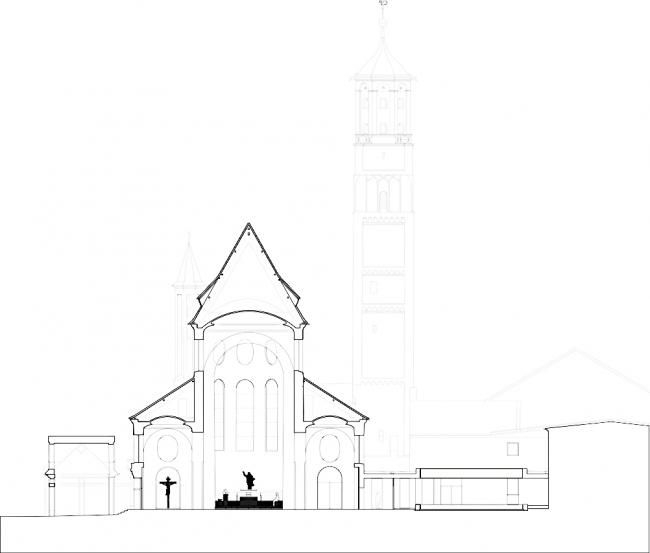 Церковь Санкт-Мориц - реконструкция © John Pawson