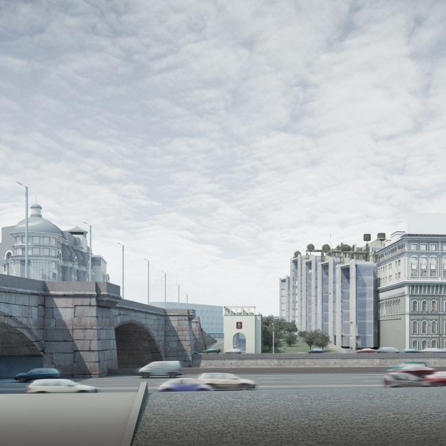 Вид на комплекс с Кремлевской набережной. «Верховые сады»