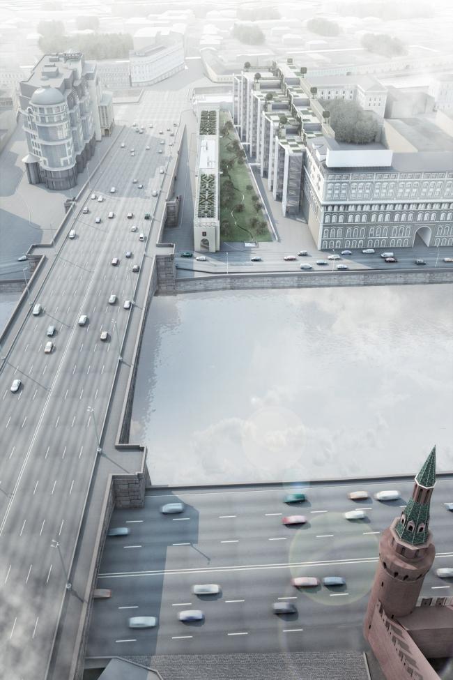 Плоскость фасада проектируемого комплекса продолжает линию застройки улицы Б.Ордынка. «Студия 44»