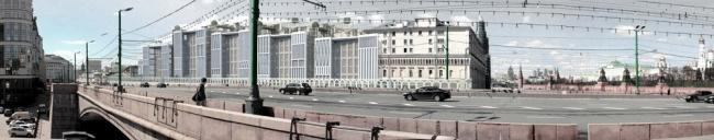 Панорама комплекса со стороны Москворецкого моста. «Студия 44»