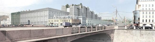 Вид на комплекс с Овчинниковской набережной. «Студия 44»