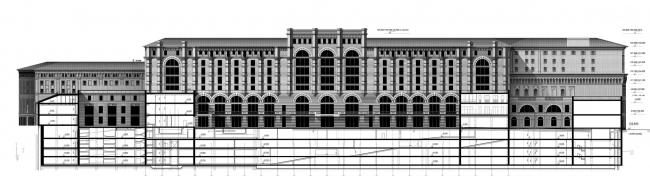 Проект «Студии Уткина». Фасад / Разрез