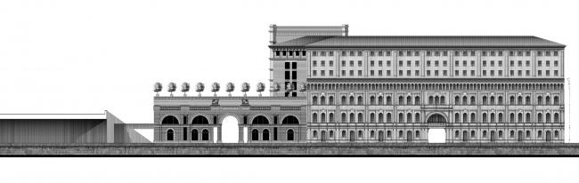 Проект «Студии Уткина». Фасад со стороны Кремля