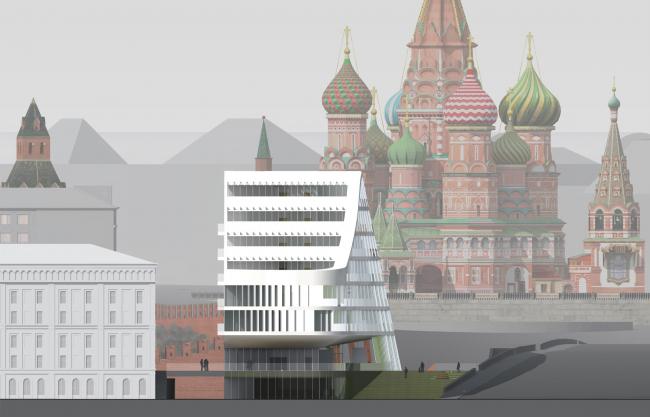 Южный фасад. Проект мастерской «Сергей Скуратов ARCHITECTS»