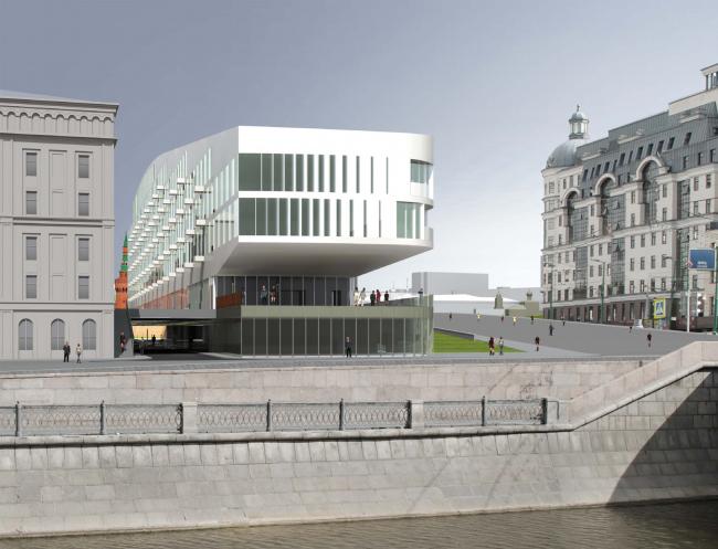 Фасад, выходящий к Обводному каналу. Проект мастерской «Сергей Скуратов ARCHITECTS»