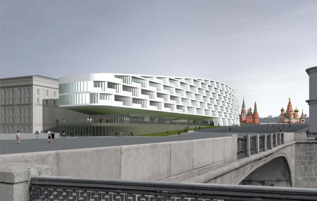 Проект мастерской «Сергей Скуратов ARCHITECTS». Вид со стороны Обводного канала
